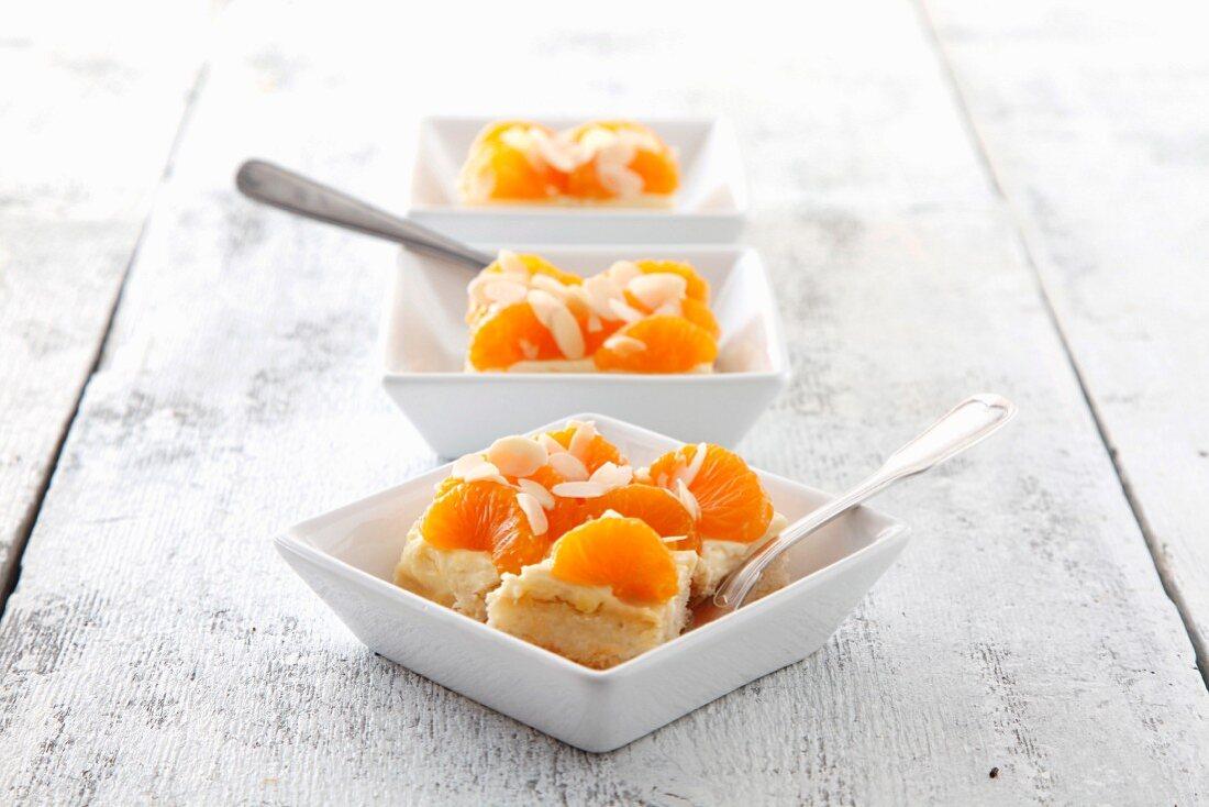 Mandarin and sour cream slices