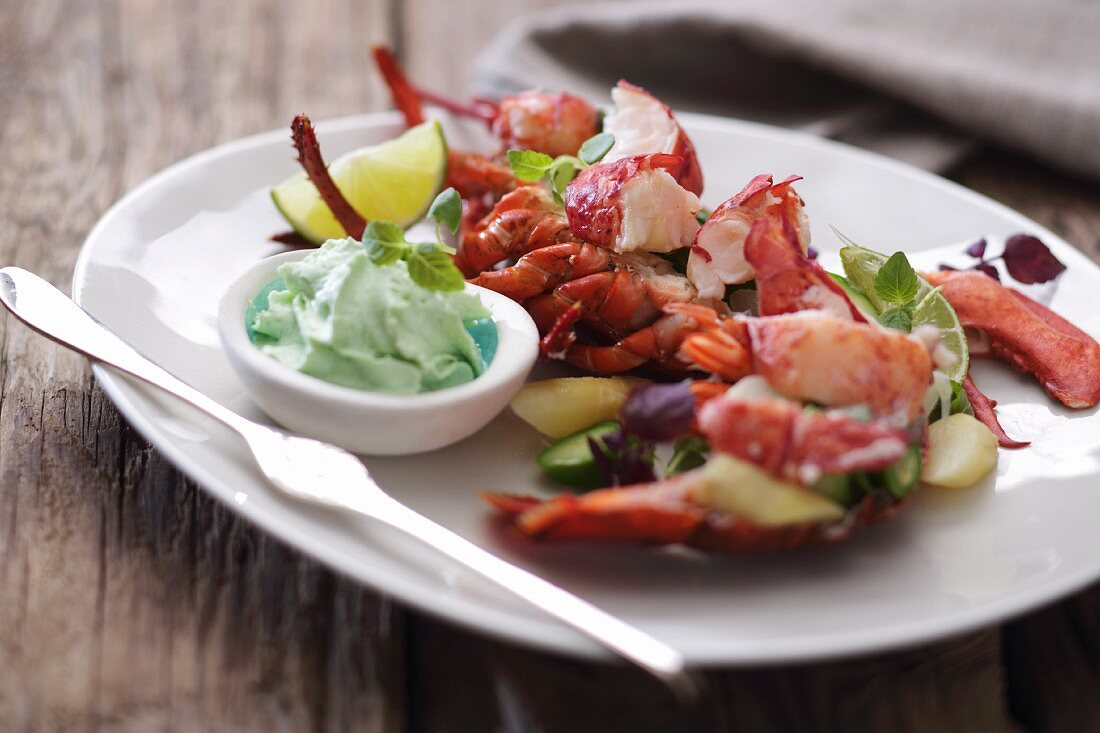 Lobster salad with wasabi mayonnaise
