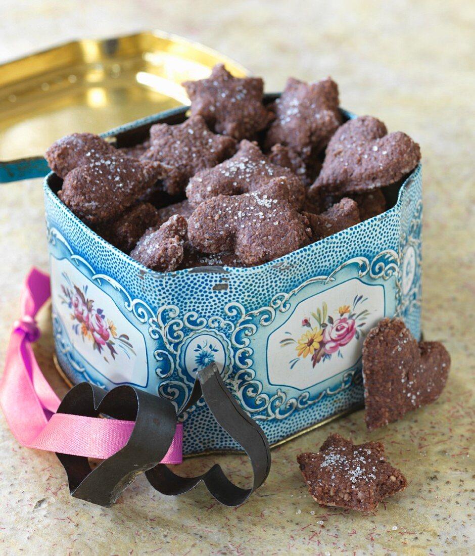 Brunsli (Swiss chocolate biscuits)