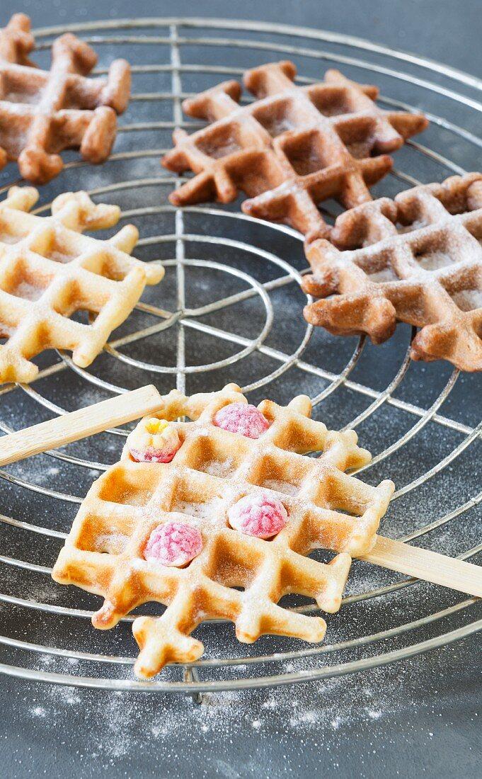 Waffles on sticks