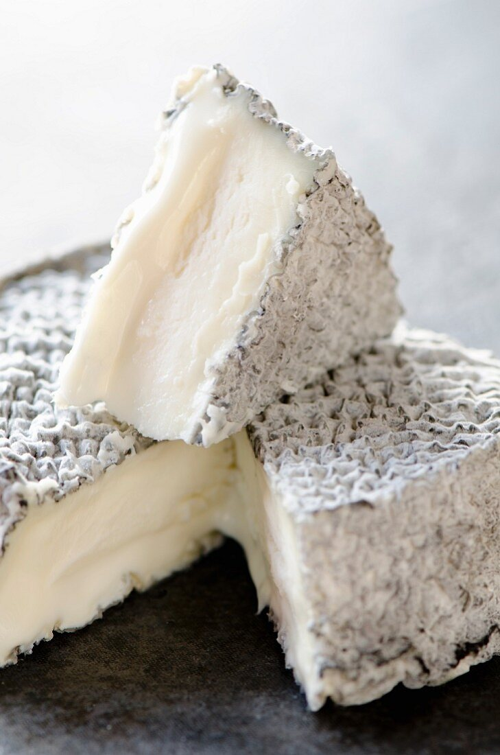 French goat's cheese with ashes