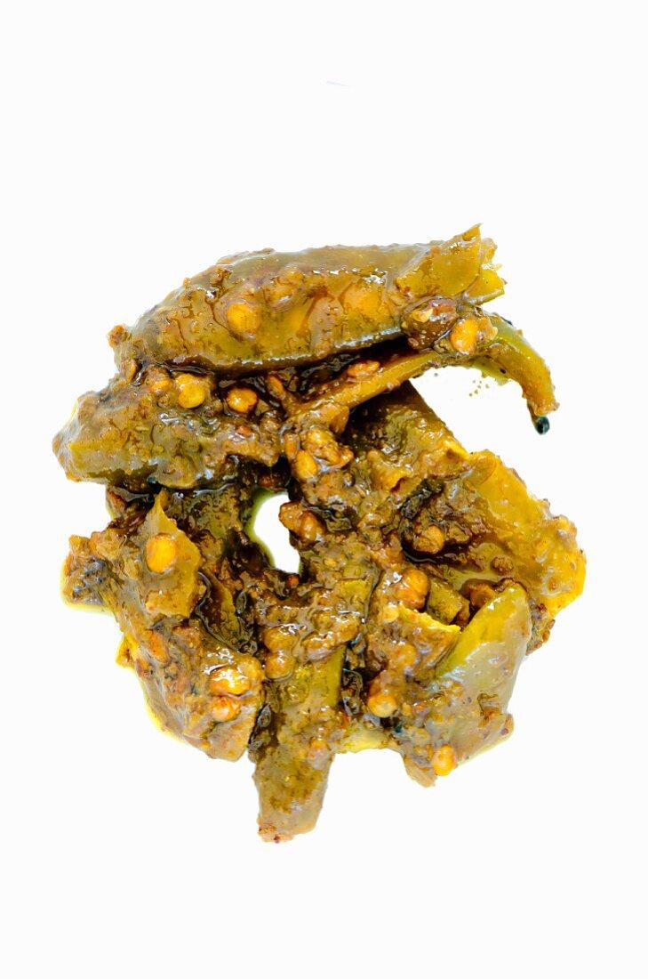 Green chilli chutney (India)
