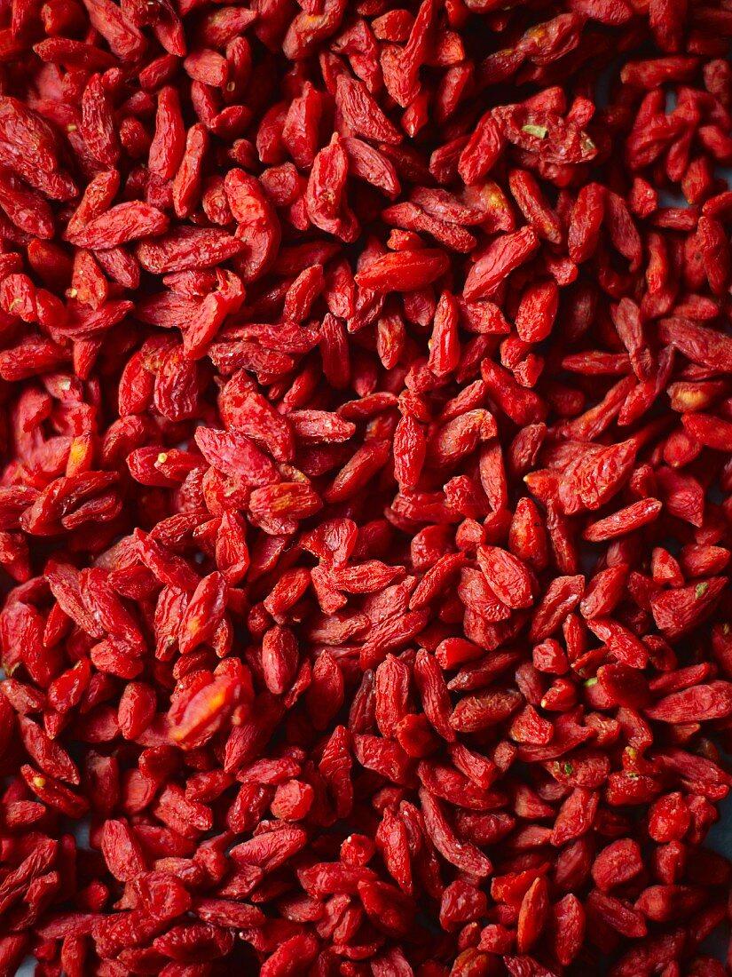 Dried goji berries (full frame)