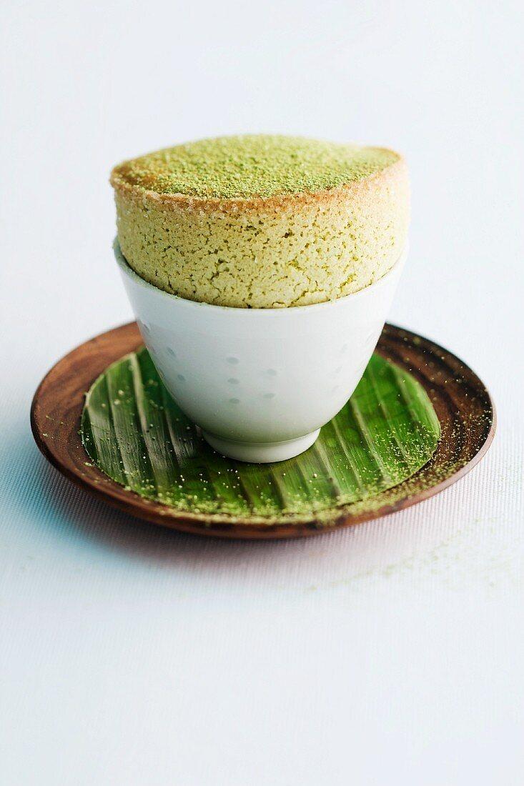 Green tea soufflé