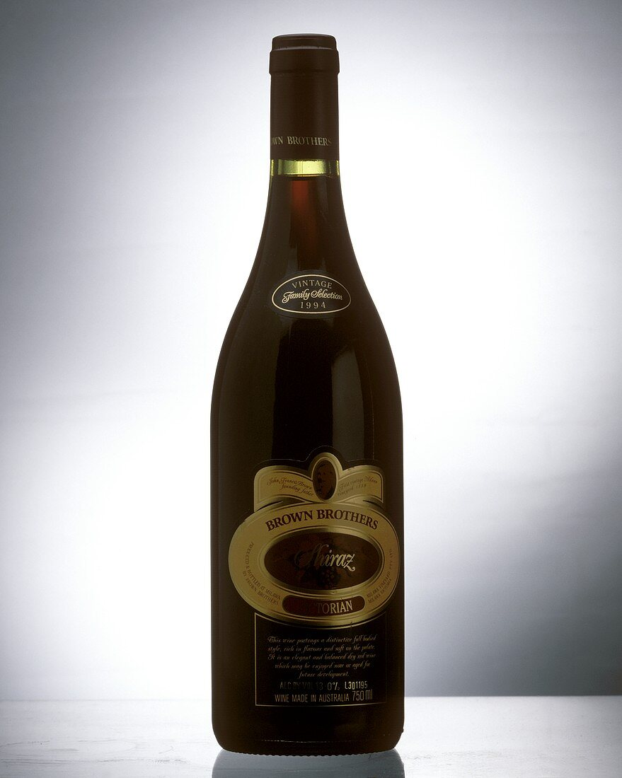 Bottle of Shiraz from the Brown Brothers Estate, Australia