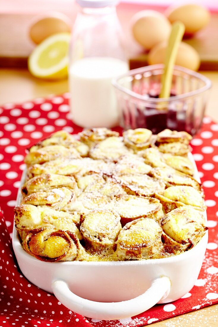 Topfenpalatschinken (Austrian cheese-filled pancakes) with Powidl (stewed plum pastries)