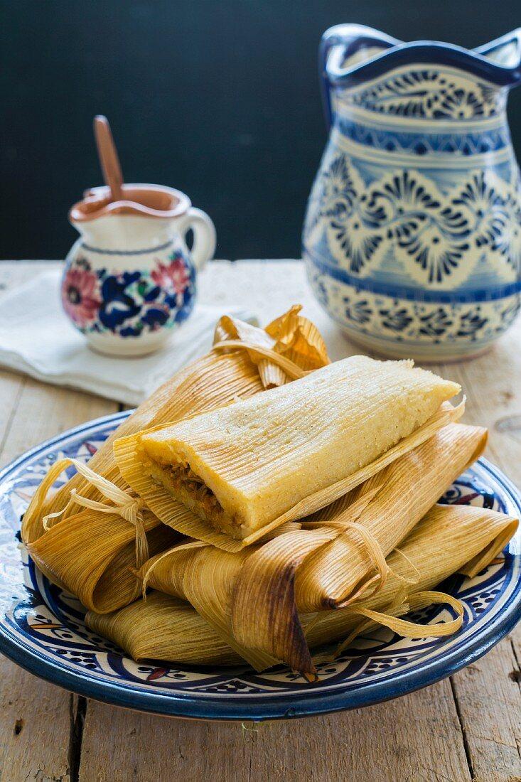 Pork-filled tamales