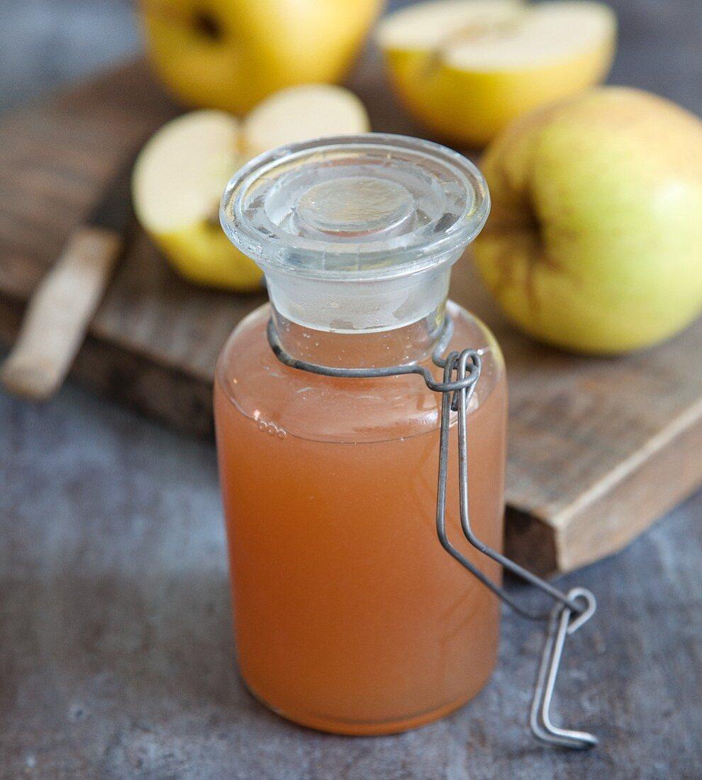 Homemade apple sweetener for vegans