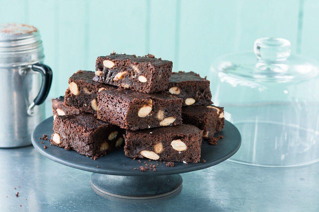 Toffee almond brownies (USA)