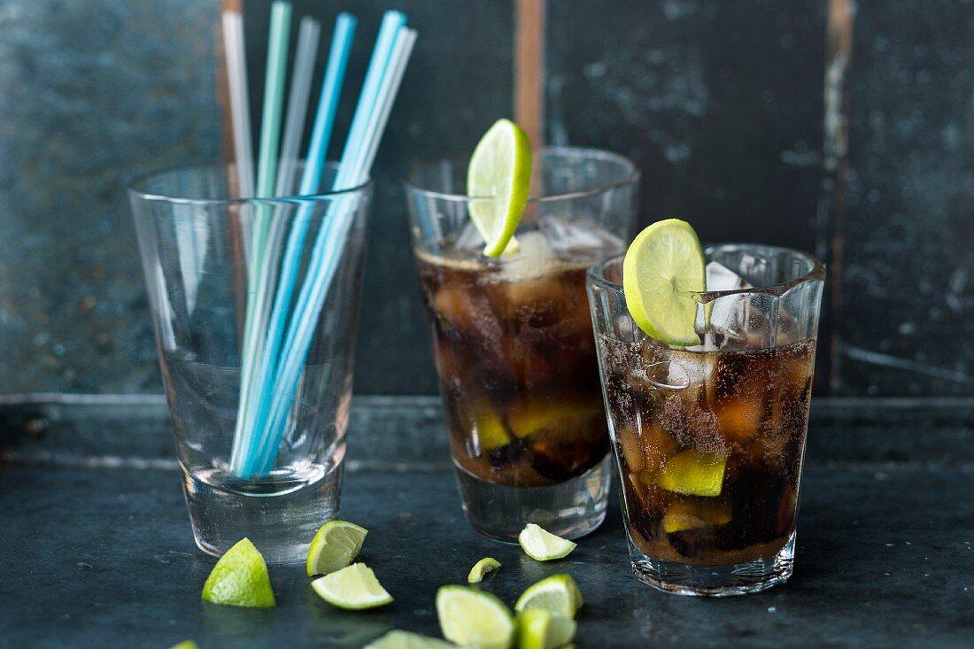 Café Libre made with rum and cola
