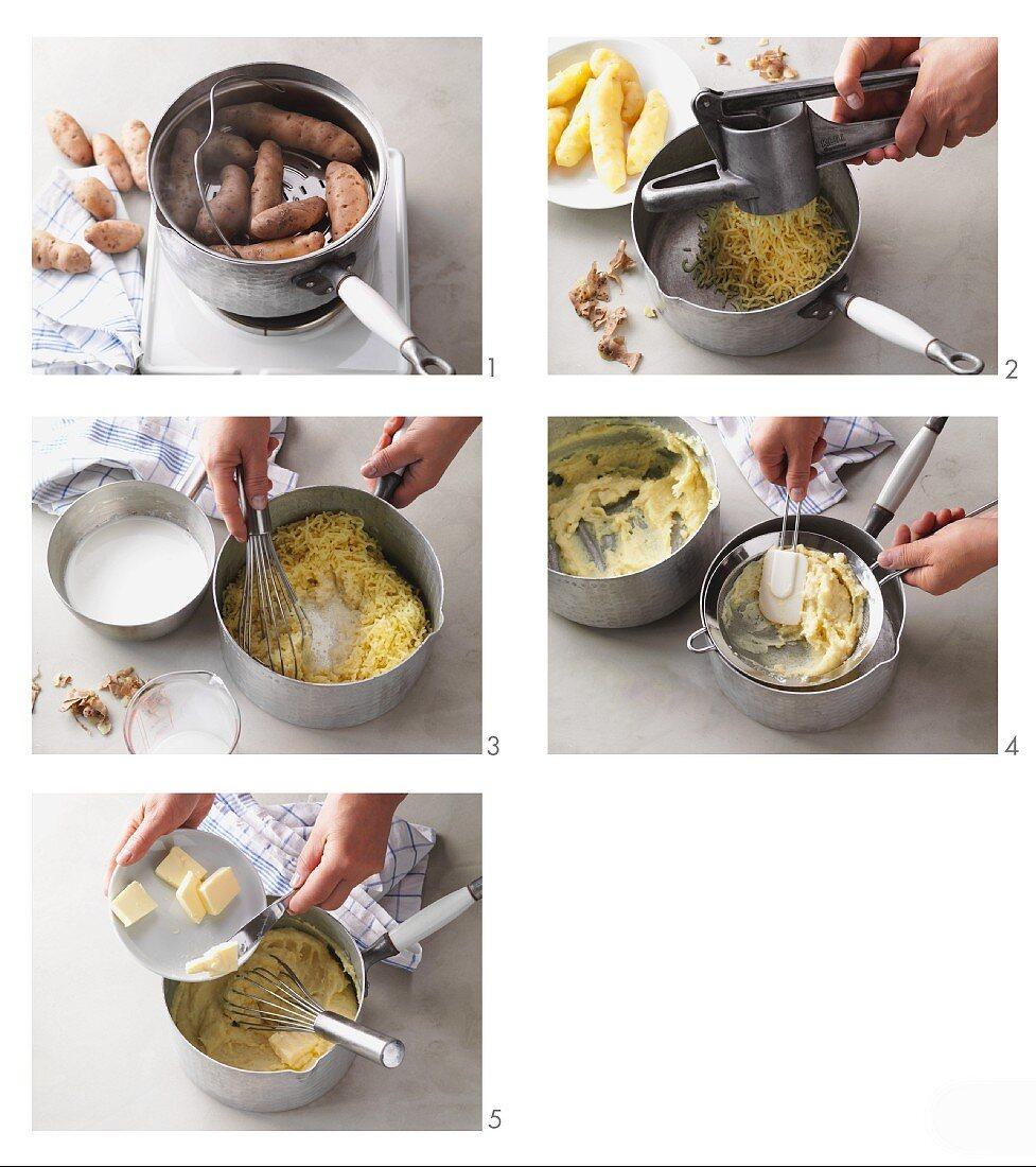 Mashed potatoes made from Bamberg potatoes