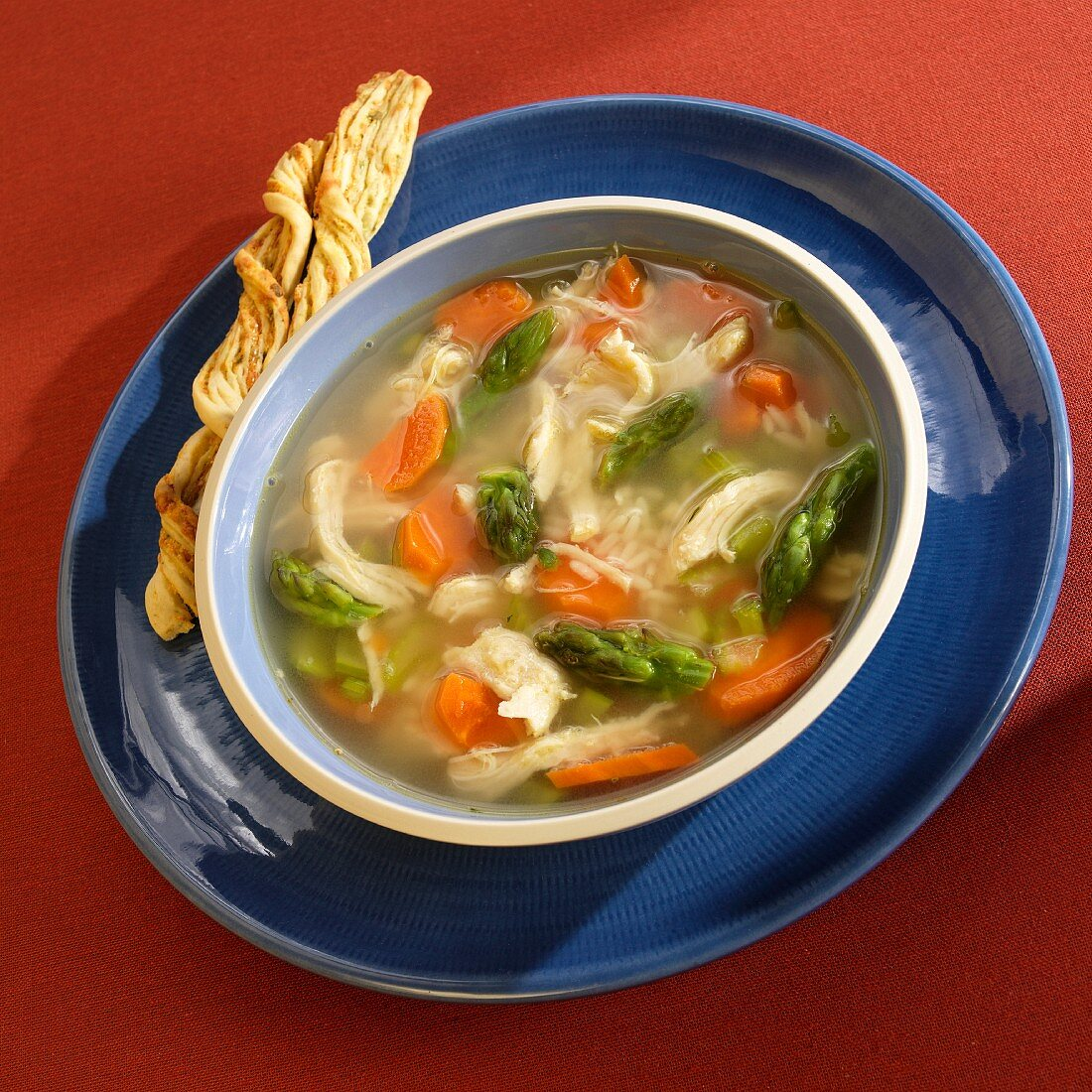 Canja De Galinha (chicken soup with carrots, celery, onions and rice, Brazil)