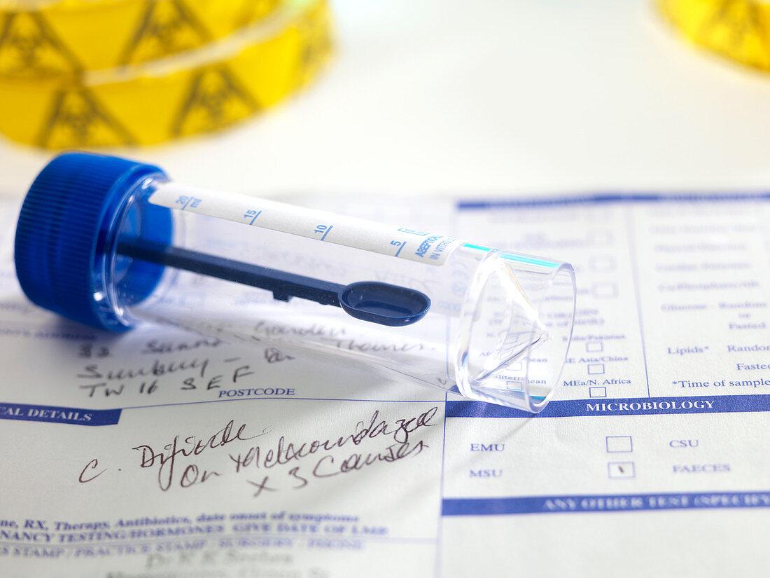 Clostridium difficile test