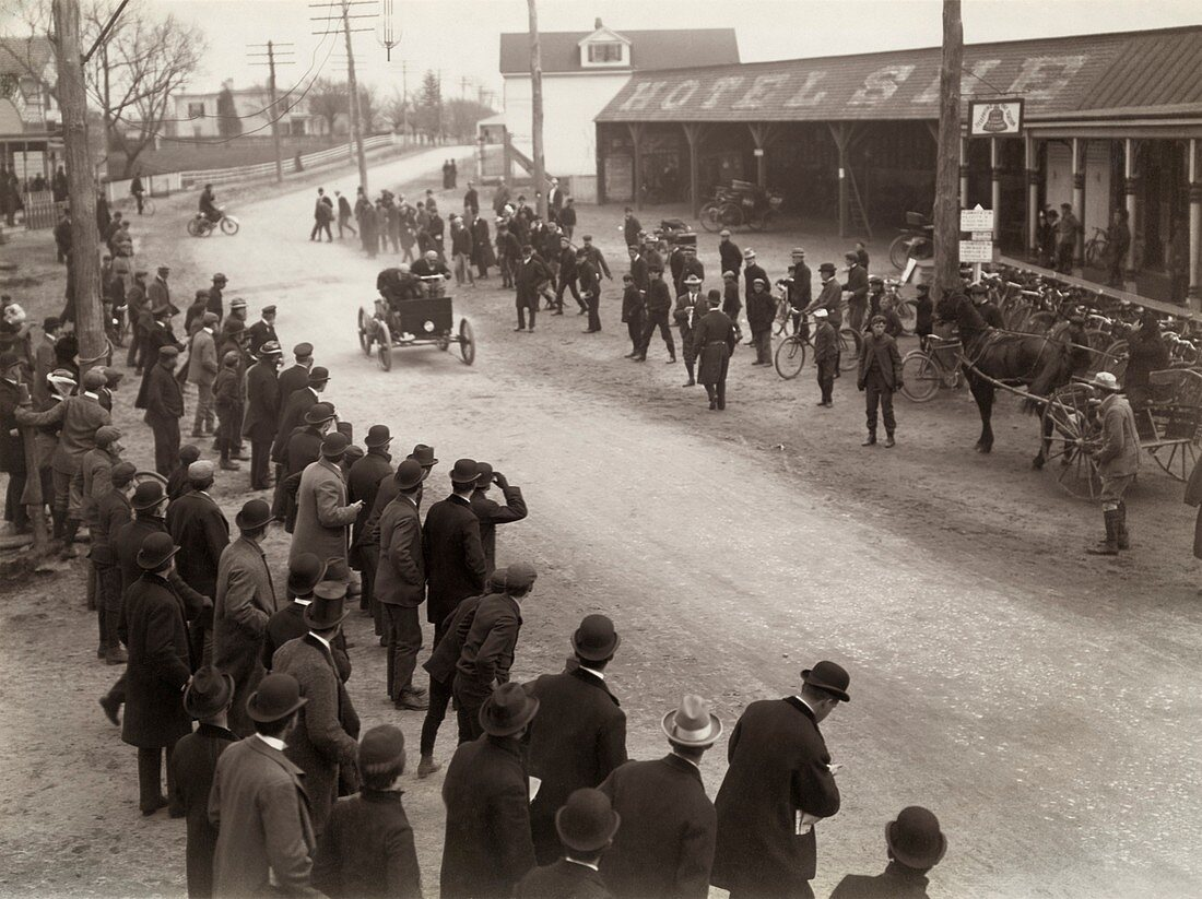 1st American fifty-mile automobile race