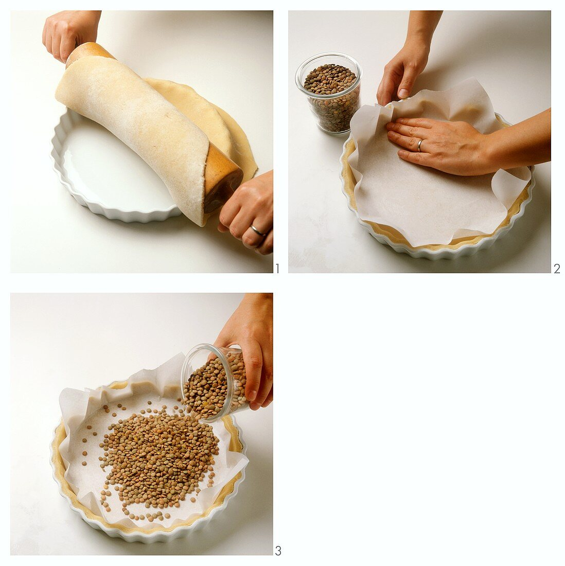 Baking a pastry base blind