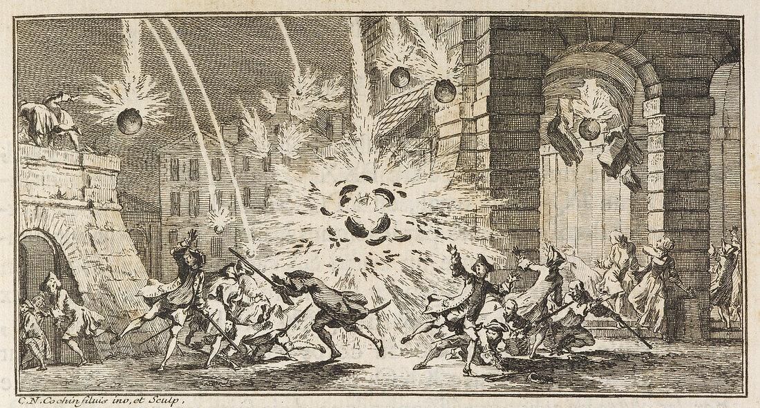 A bombardment