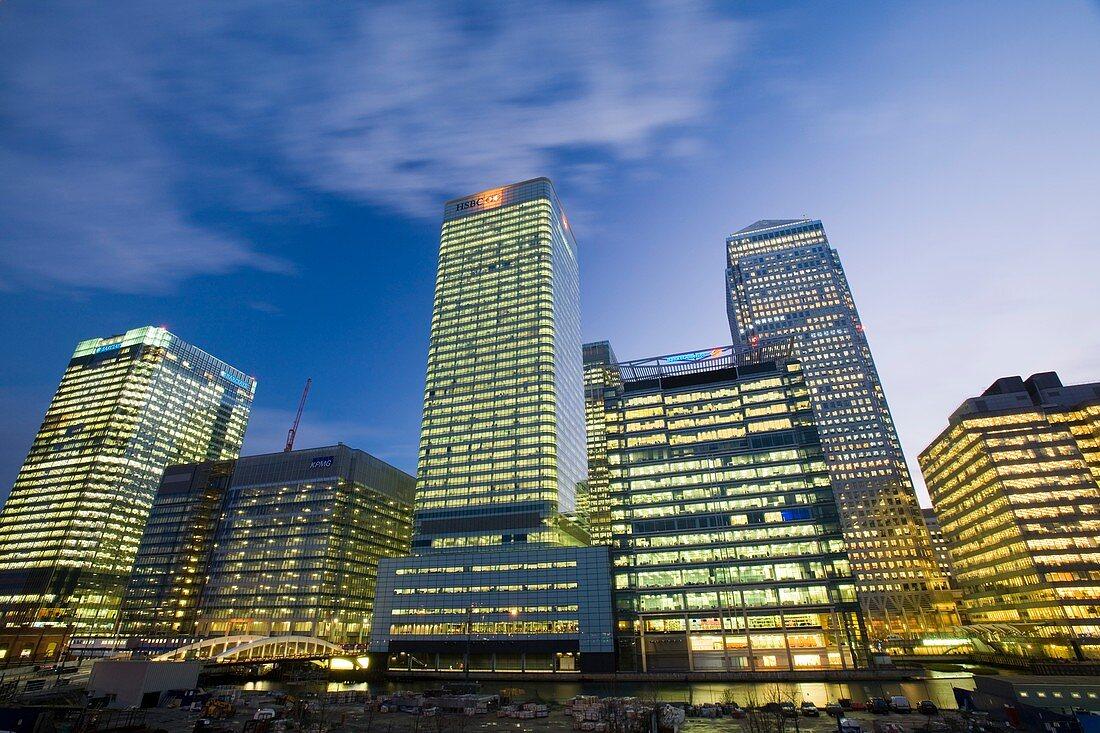 Canary Wharf in London UK