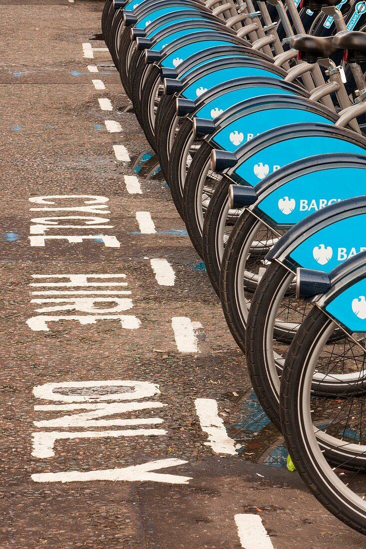 Public bike hire scheme,London,UK