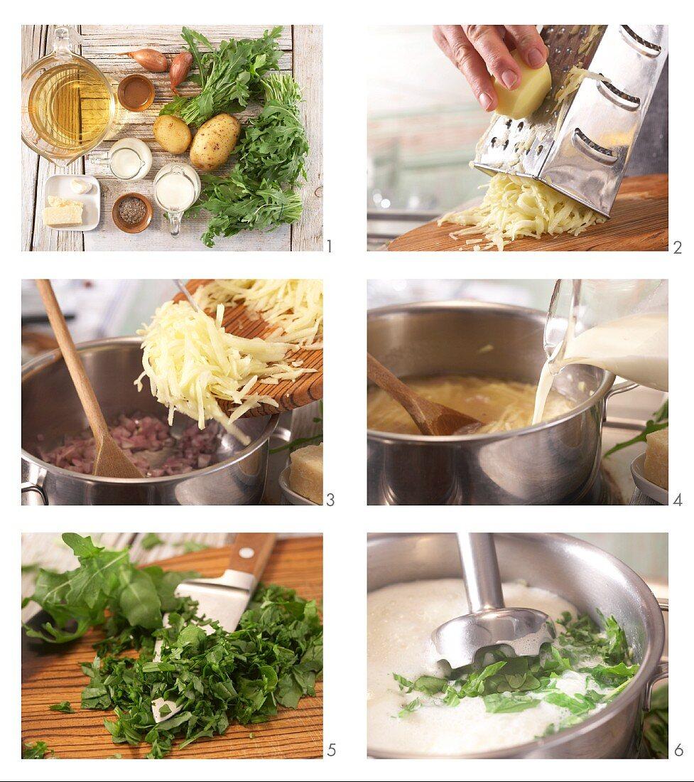 How to prepare creamy rocket soup