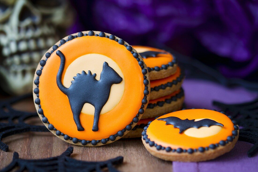 Cookies with a Halloween theme