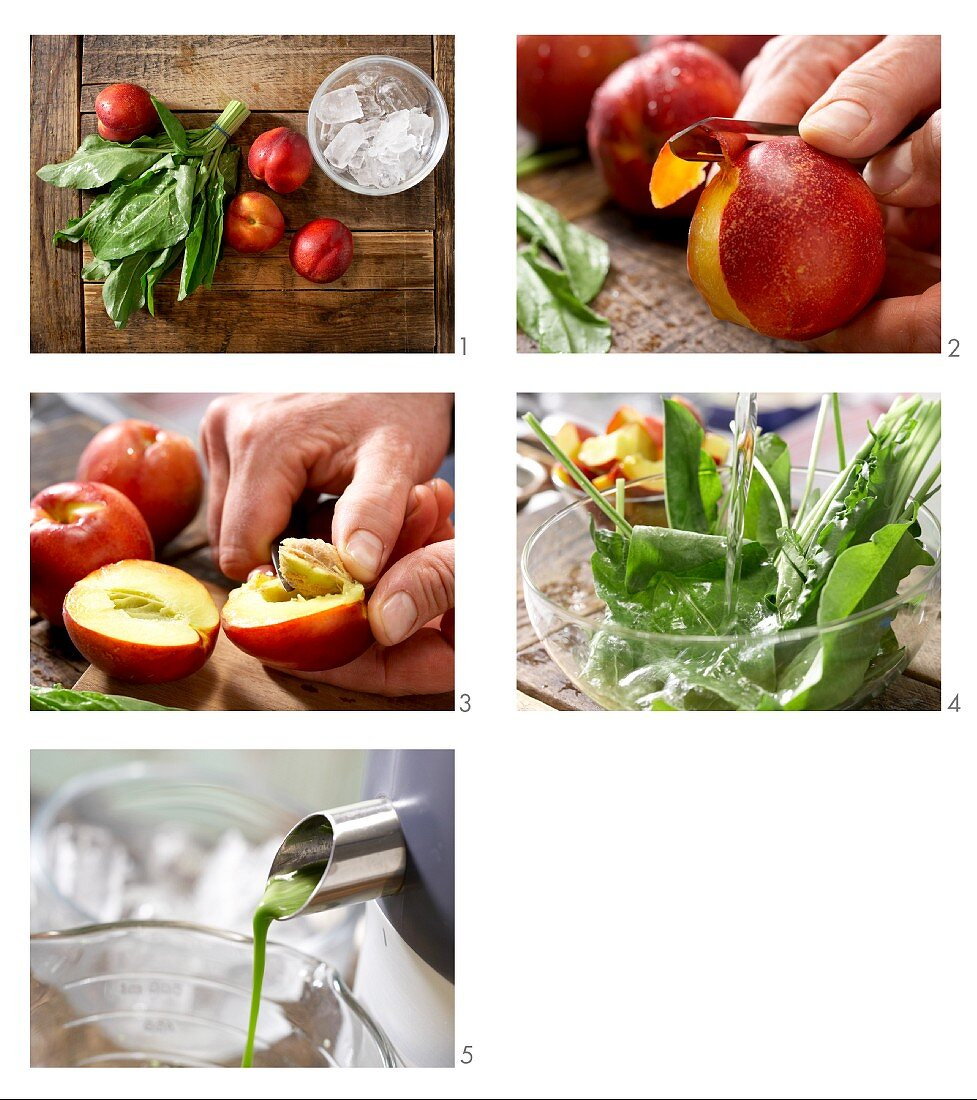 How to prepare green nectarine drink with sorrel