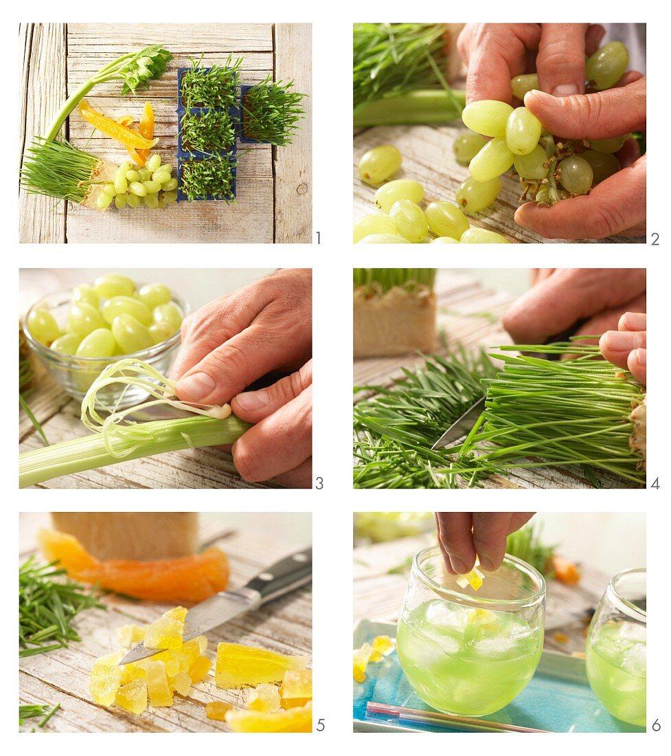 How to prepare grape and celery juice