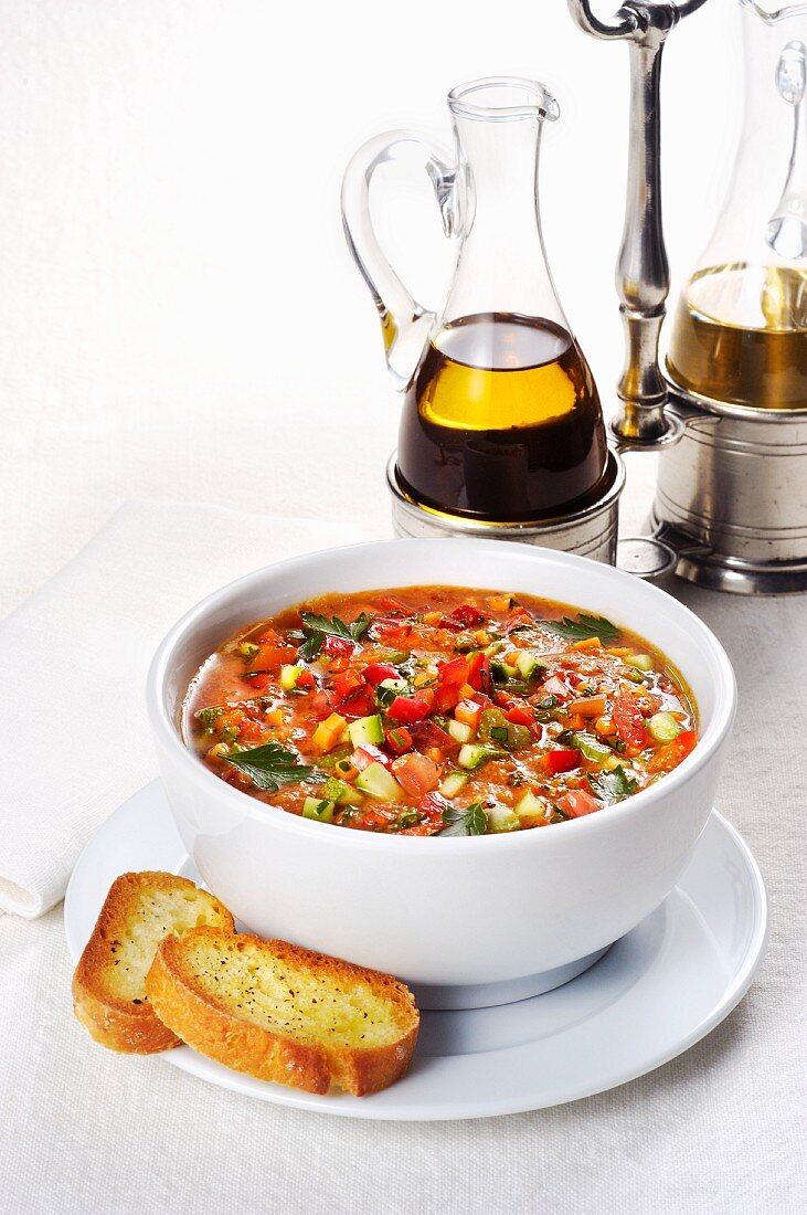 Chilled Sicilian minestrone