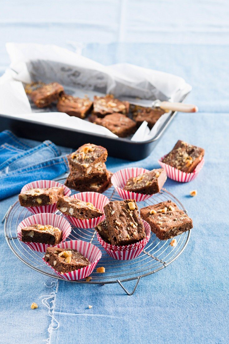 All-American brownies with hazelnuts