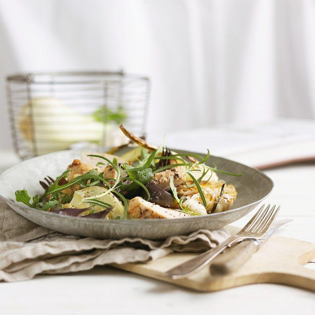 Pork tenderloin with garlic and fennel
