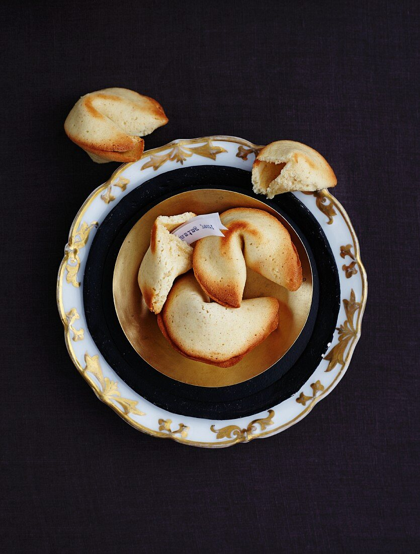Homemade fortune cookies for New Year