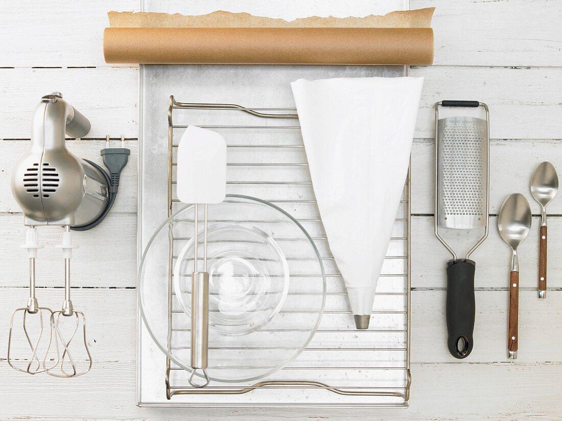 Küchengeräte für die Zubereitung von Kokosmakronen