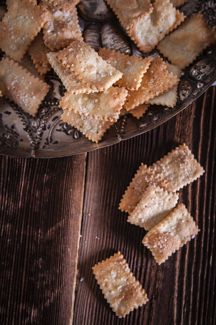 Salty crackers (seen from above)