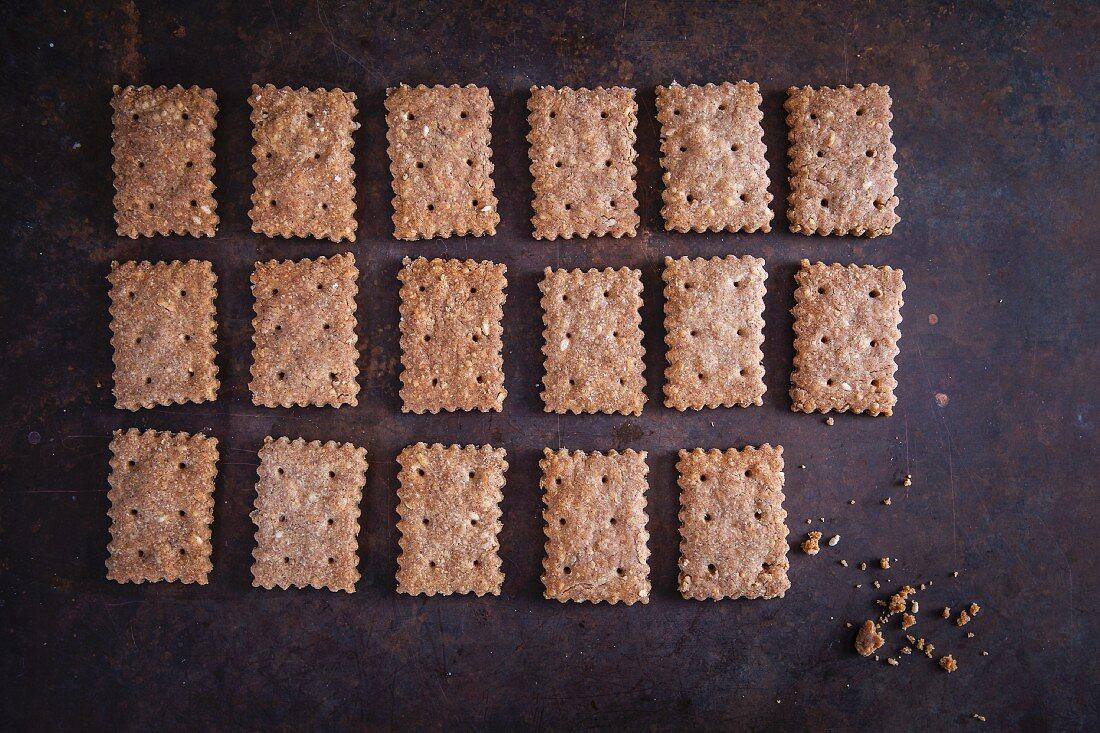 Buckwheat and cheese crackers