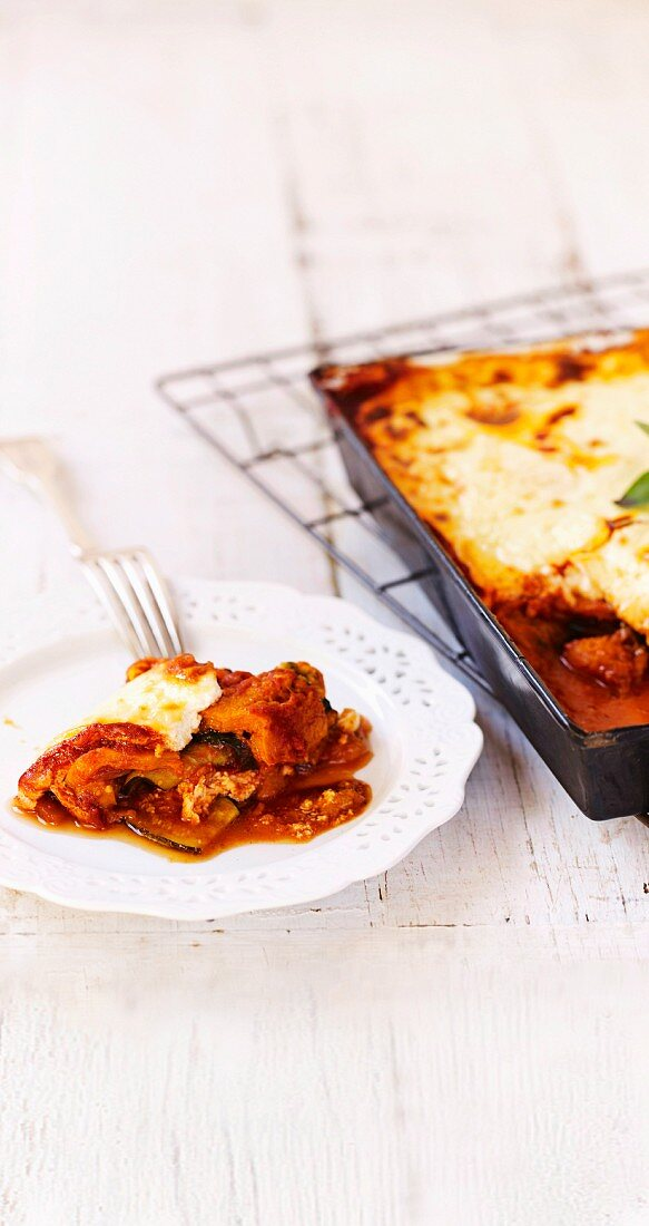 Garden vegetable lasagne