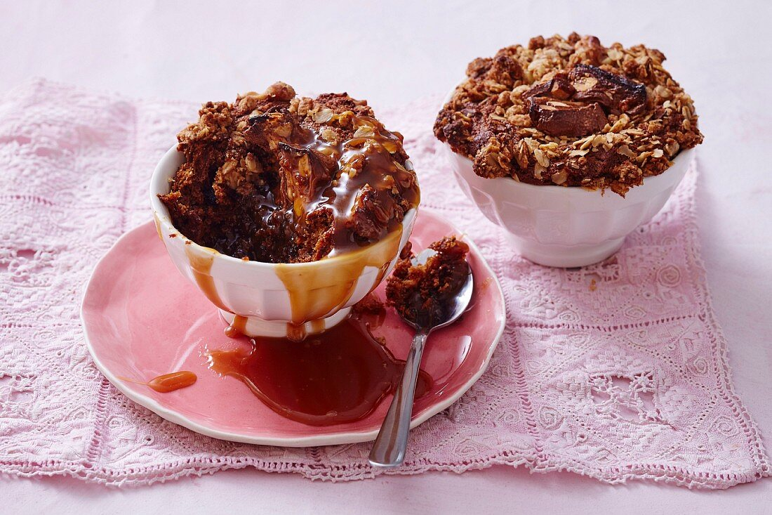 Sticky Date Crumble Puddings
