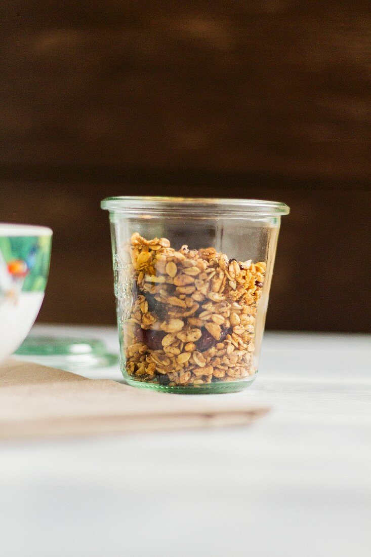 Muesli mix in a glass