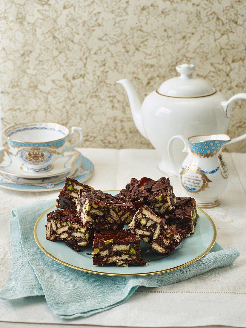 Kalter-Hund-Kuchen zum Tee