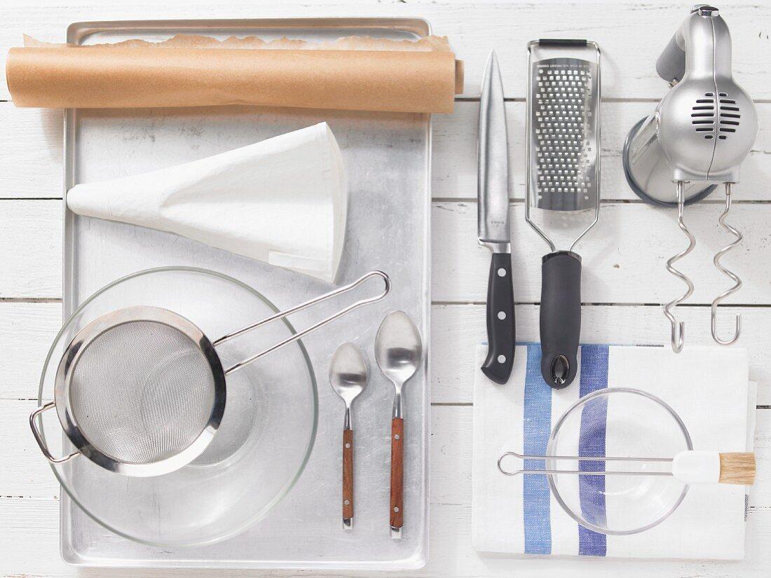 Kitchen utensils for baking