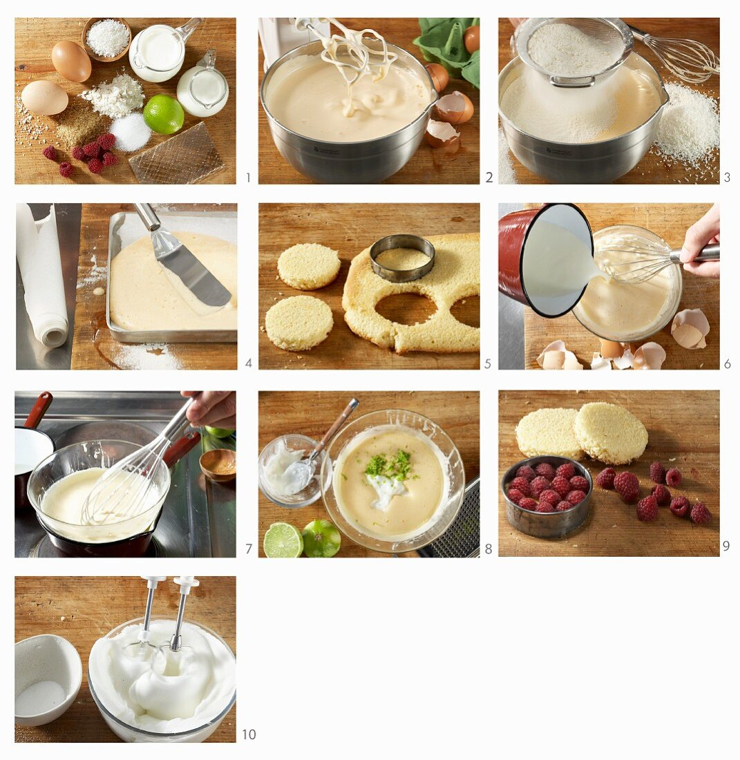 How to make raspberry and yoghurt tarts