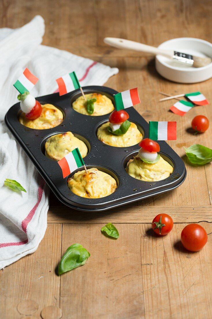 Tricolore Shirataki noodle cakes with ricotta (low carb)