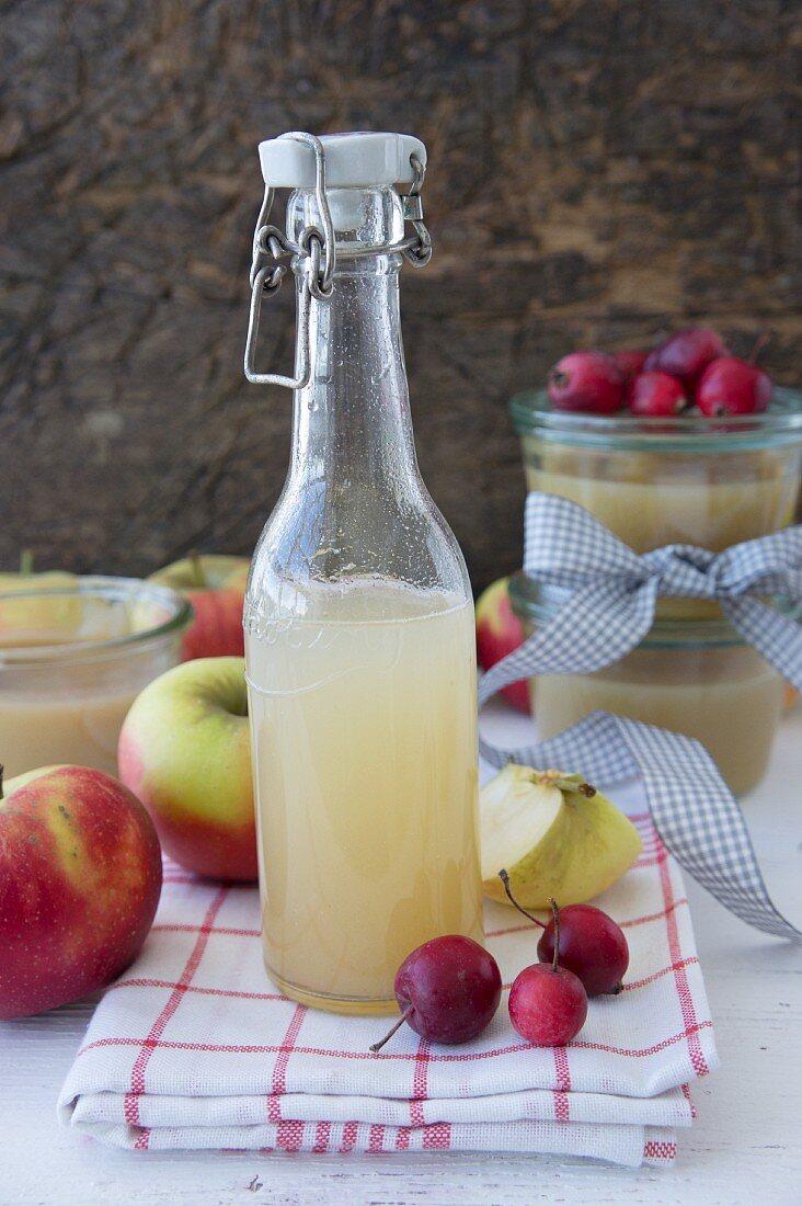 Natural apple juice, homemade