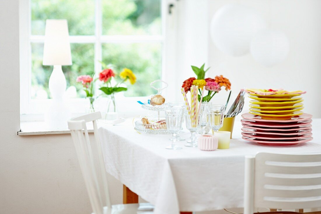 Table set for a summer party