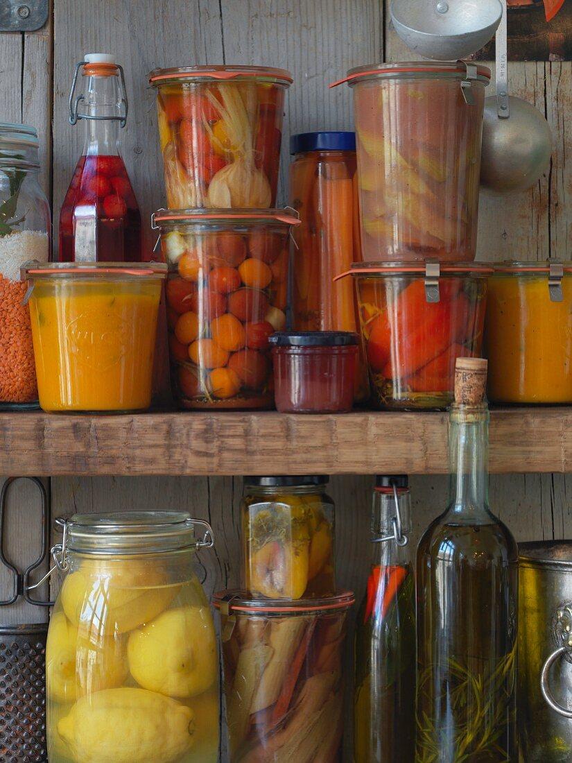 Storage jars for vegan cuisine