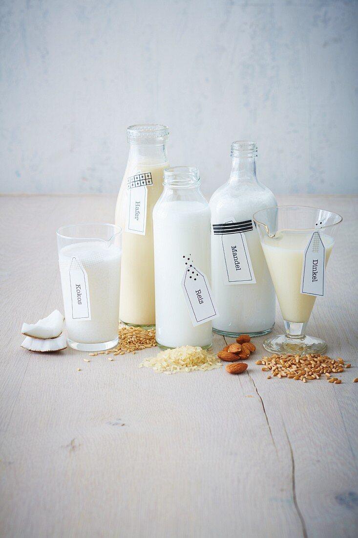 Alternative plant-based drinks for vegans (soya-free)