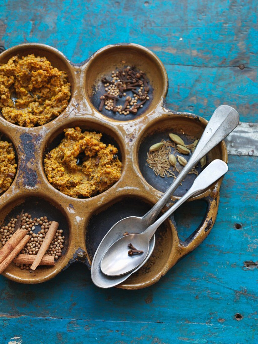 Homemade Indian garam masala spice paste