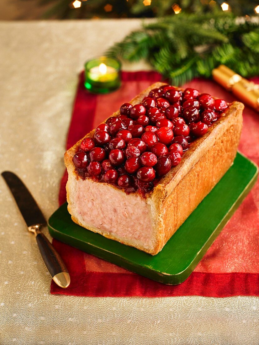 Cranberry Topped Gala Pie