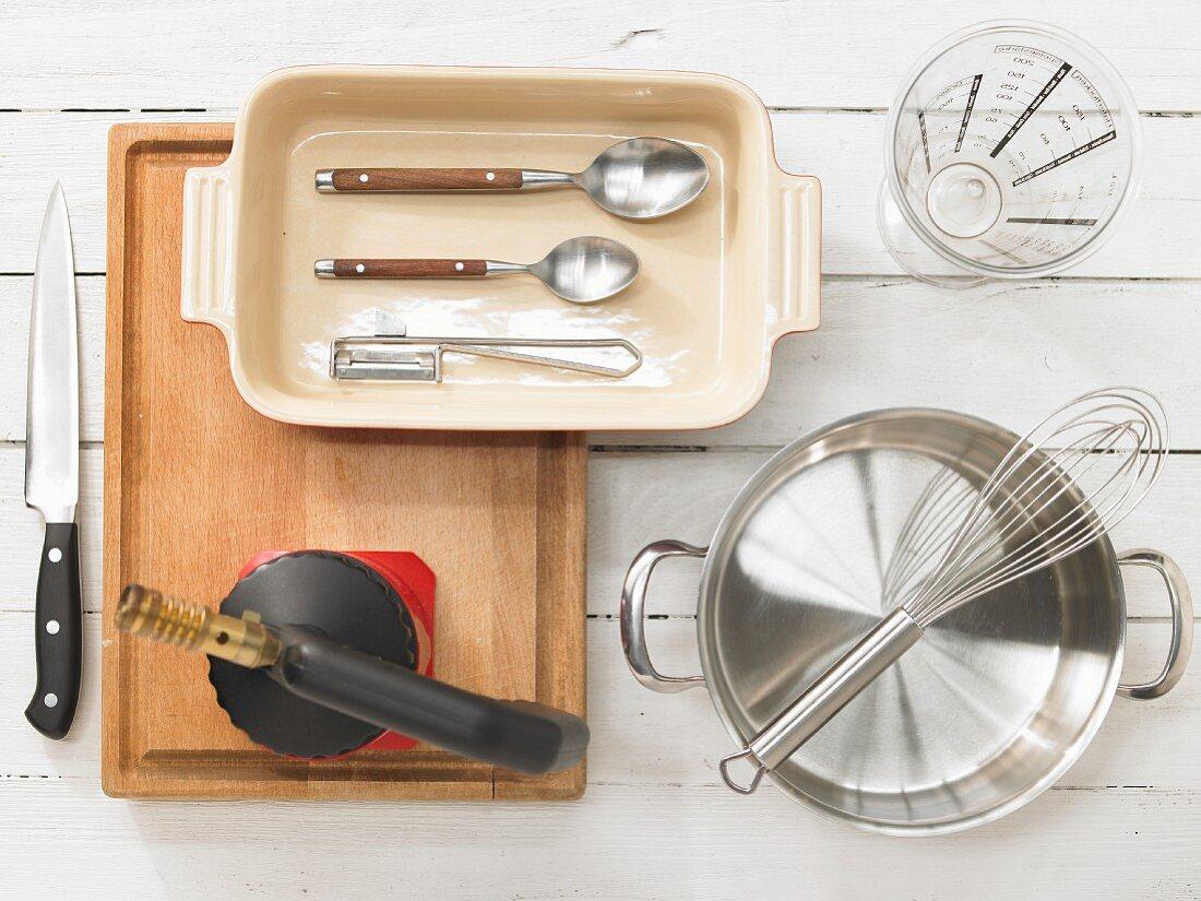 Kitchen utensils for making granita