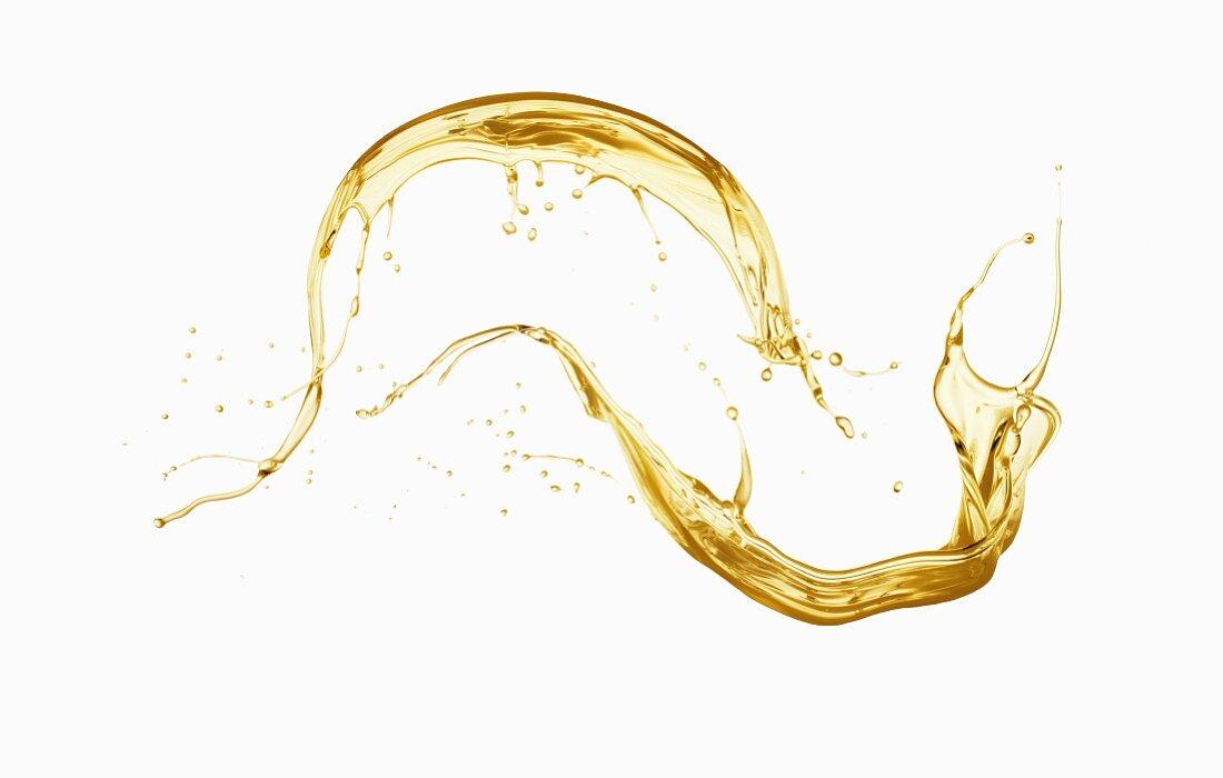 A splash of oil
