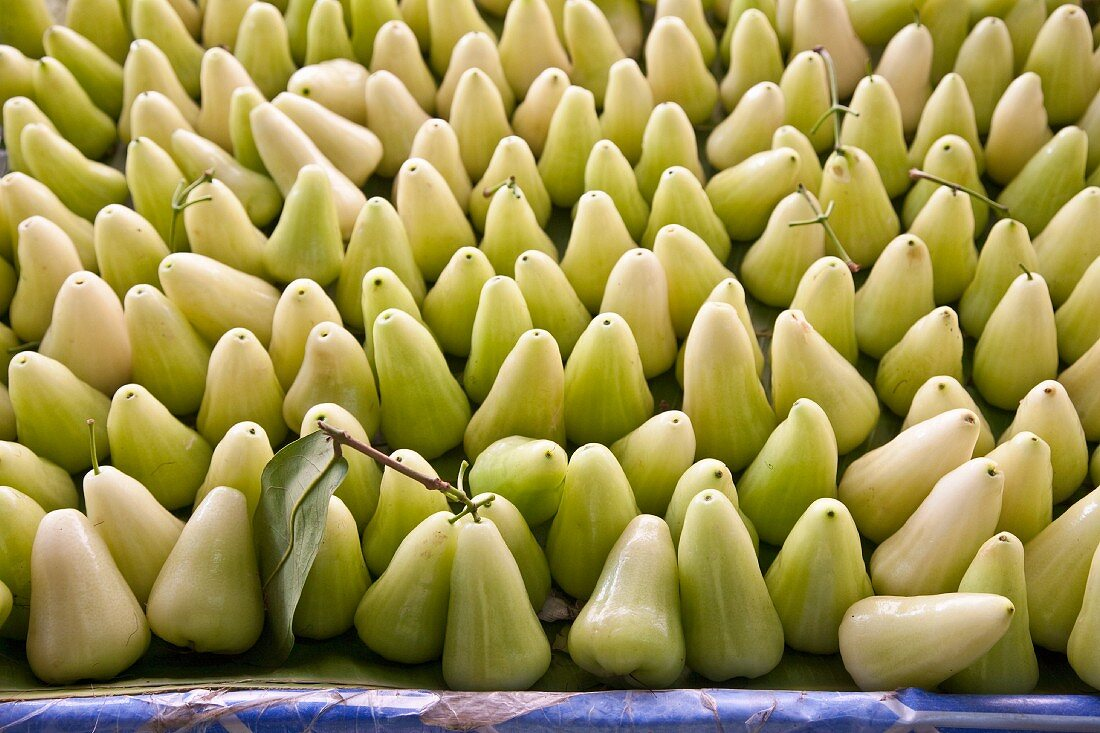 Water apples at a market (Thailand, Asia)