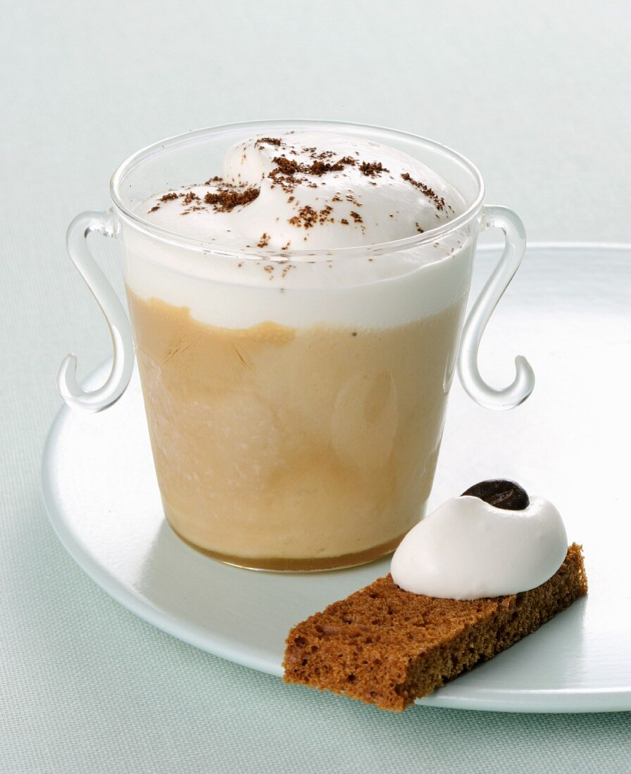 Cappuccino parfait with yoghurt